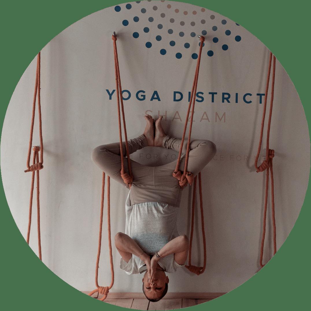 Курунта хатха йога с въжета